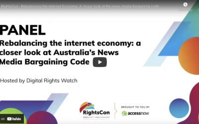 RightsCon – Rebalancing the Internet Economy: A closer look at the news media bargaining code